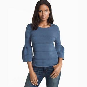 WHBM Pointelle Bell Sleeve Sweater